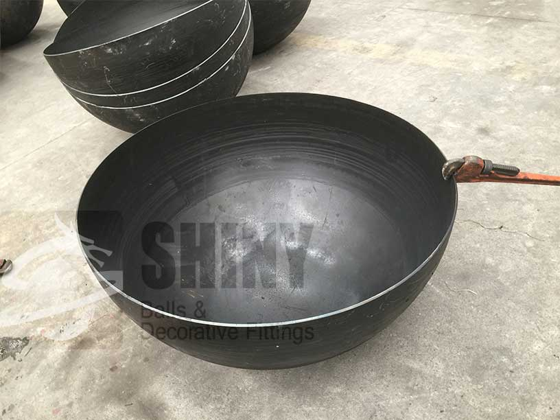 Carbon Steel Hemispheres Shiny Fire Pit Ball And Bowl