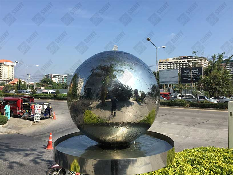 Sphere Water Features Steel Spheres Steel Sculpture And