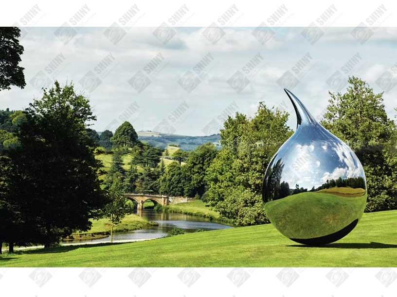 Stainless Steel Teardrop Sculpture Steel Spheres Steel