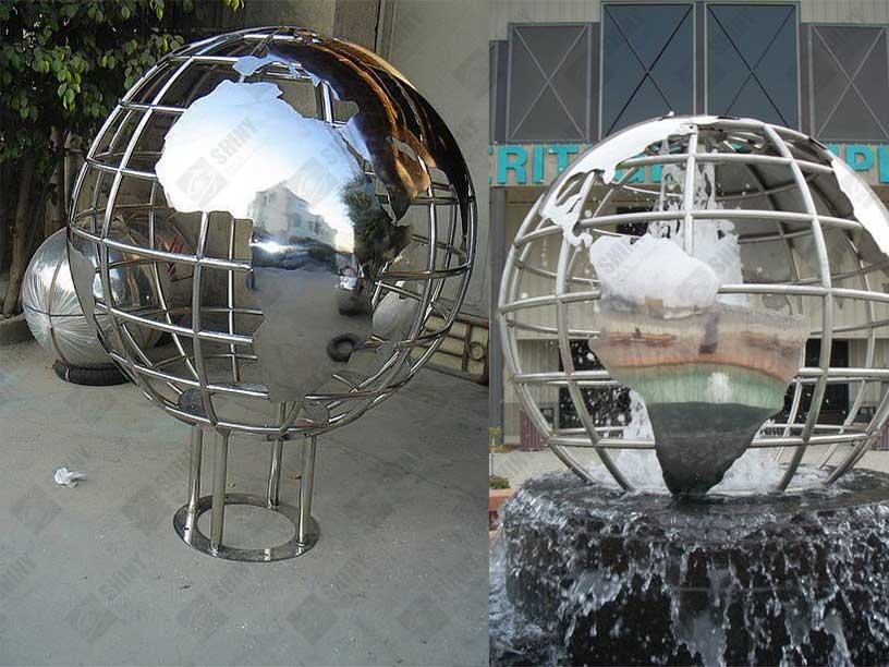 Stainless Steel Globes Sculptures Steel Spheres Steel